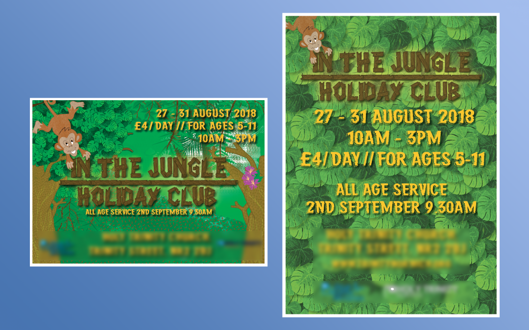 Jungle Holiday Club Flyer